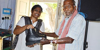 Shoes for Leprosy Victim