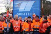 """Metallerinnen und Metaller bei MHWirth: """"Unsere Unterstützung ist euch sicher. Gemeinsam sind wir stark!"""