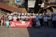 Solidarität von der IG Metall Betzdorf für die Streikenden - 1300 € für das Solidaritätskonto