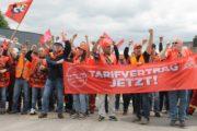12. Streikwoche – Lo sciopero continua - Öffentliche Streikversammlung vor den Werkstoren in Horath