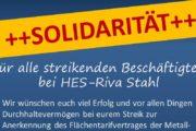 Solidarische Grüße von der ver.di Betriebsgruppe Brief Trier