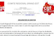 Internationale Solidarität auch aus Frankreich - CGT solidarisch mit Streikenden in Trier und Horath