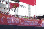 Videoclip: 3. Tagdes Streik-Trails der RIVA Streikenden aus Trier und Horath - Auf der Hauptbühne der #FairWandel Demo