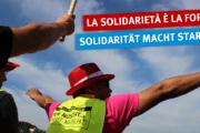 Dalla Germania a Milano - italienische und deutsche Arbeiter demonstrieren vor RIVA-Zentrale in Mailand