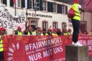 SWR Aktuell: Streik der Stahlarbeiter - Kundgebung und Demo in Trier