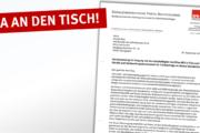 Brief vom SPD Bundesvorstand der Arbeitsgemeinschaft für Arbeitnehmerfragen an Claudio Riva