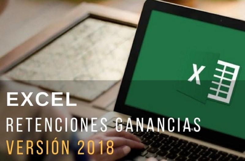 Planilla excel cálculo retenciones Ganancias 2018