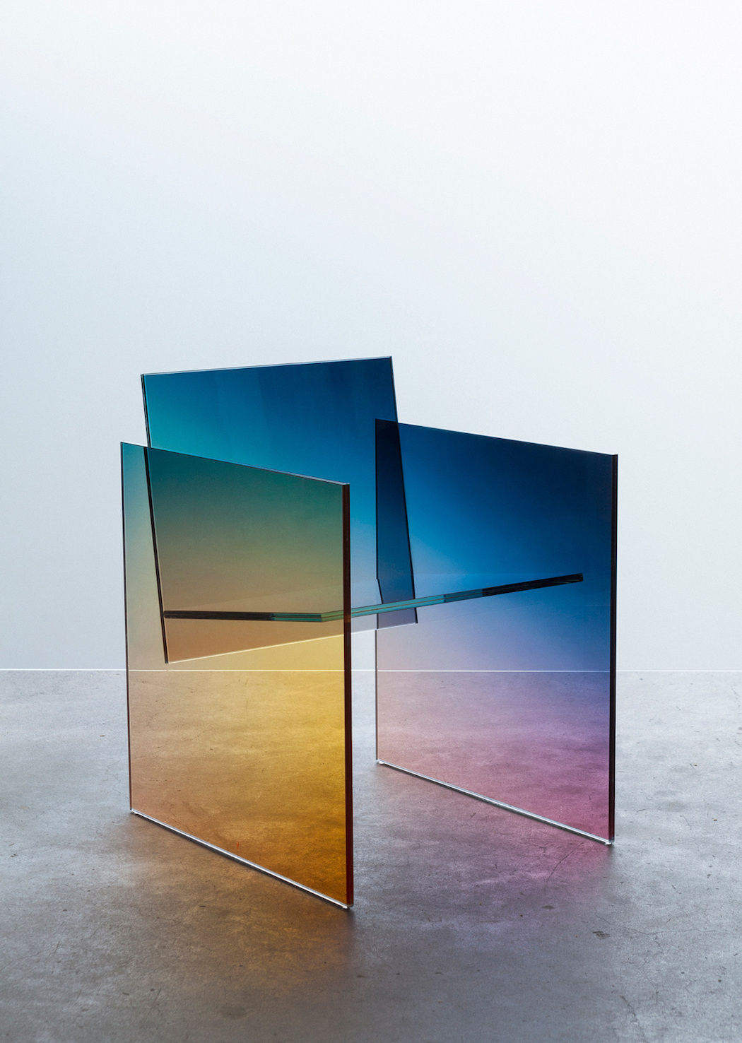 Glass Chair Germans Ermics 39 Ombré Chairs Ignant
