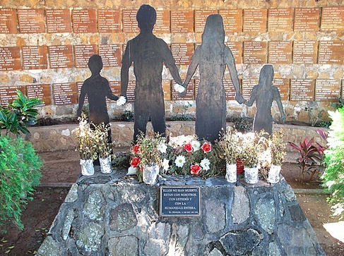 Memorial to those who died at El Mozote