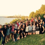 University Leaders Summit participants enjoyed a cookout and closing reflection on the shores of Lake Erie.