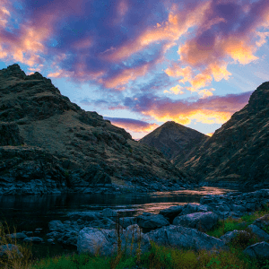 A sunset in Idaho's Hell's Canyon [SOURCE: Nan Palmero via Flickr]