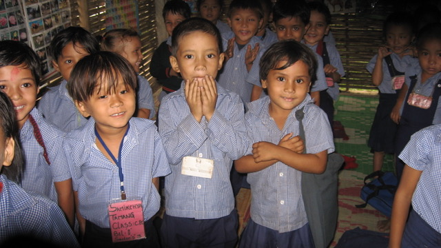 Bhutanese children attend school at a refuge camp in Nepal. Source: J.Cafiso/CJI
