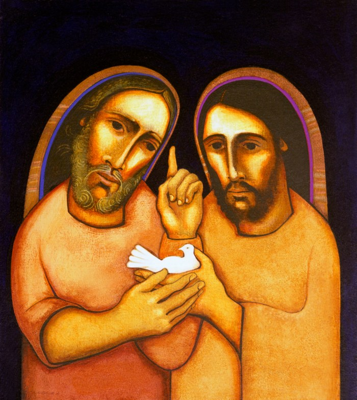 """""""St. Joachim and St. Joseph""""., by Michael O'Brien. Courtesy of the author."""