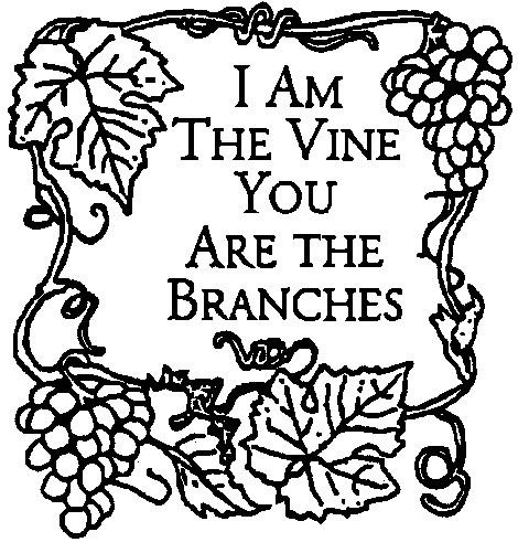 Free coloring pages of vine branches