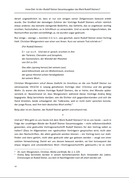 Ist die «Rudolf Steiner Gesamtausgabe» das Werk Rudolf Steiners?