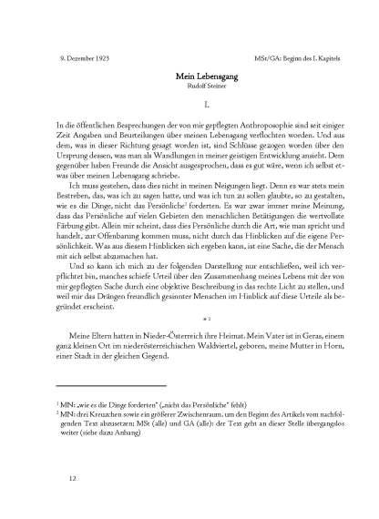 Mein Lebensgang – Rudolf Steiner