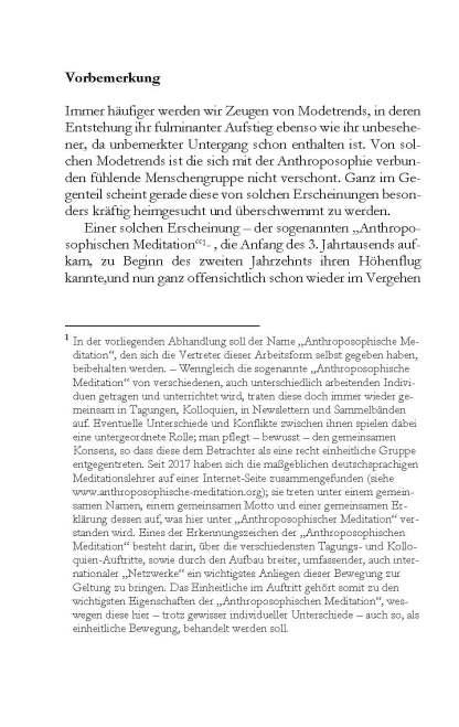 Meditation und Anthroposophie Rudolf Steiners: Wo ist der Zusammenhang?