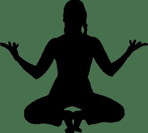 meditation, yoga, silhouette