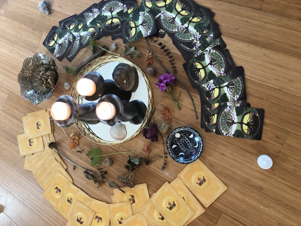Scorpio New Moon (2018), child-made altar