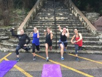 Working out at Mount Bonnell in the rain with these 4 amazing friends!