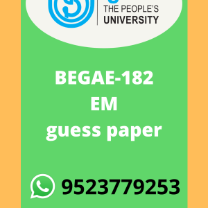 BEGAE-182 English Communication Skills in English Solved guess paper in ENGLISH