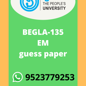 BEGLA-135 English in Daily Life in English Solved guess paper