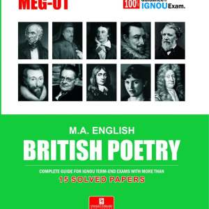 IGNOU MEG-01 British Poetry IGNOU Help Book with Solved Previous Year's Question Papers and Important Exam Notes