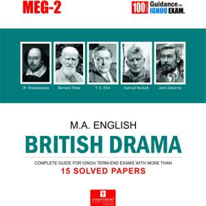 IGNOU MEG-02 British Drama IGNOU Help Book with Solved Previous Year's Question Papers and Important Exam Notes