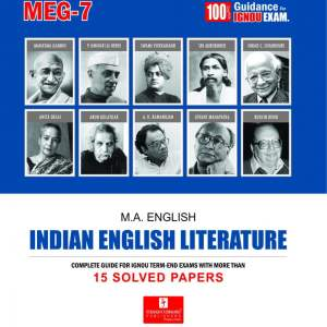 IGNOU MEG-07 Indian English Literature and Help Books with Solved Previous Years' Question Papers and Important Exam Notes