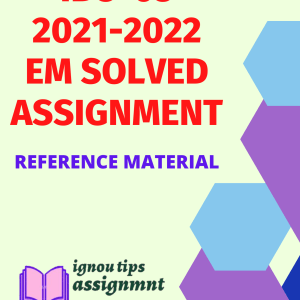 IBO-03 India's Foreign Trade in English SOLVED ASSIGNMENT 2021-2022