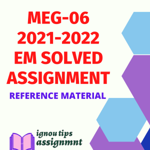 MEG-06 American Literature Solved Assignment 2021-2022 for MA English