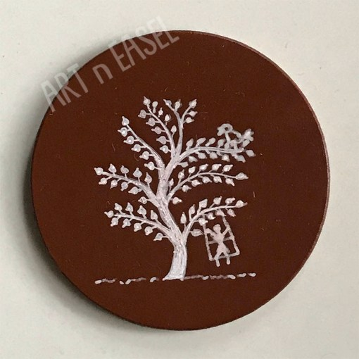 Wooden Handpainted Coaster