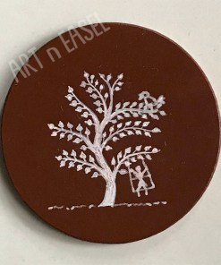 Wooden Handpainted Coaster