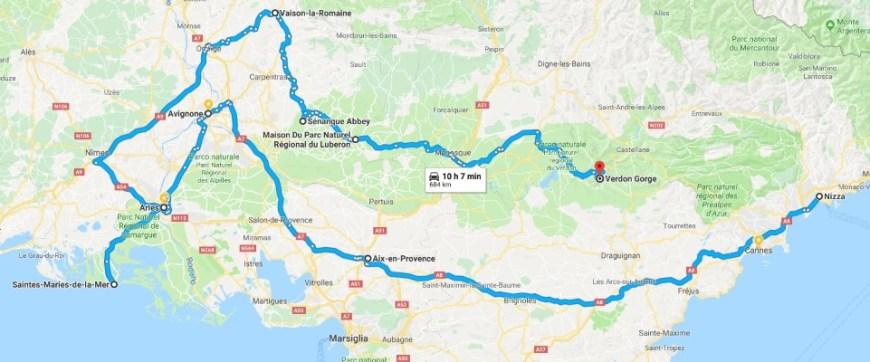 Itinerario vacanza Provenza