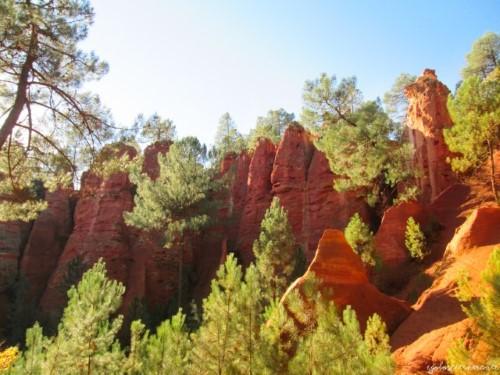 Il sentiero delle ocre: cava di ocra in Provenza vicino a Roussillon