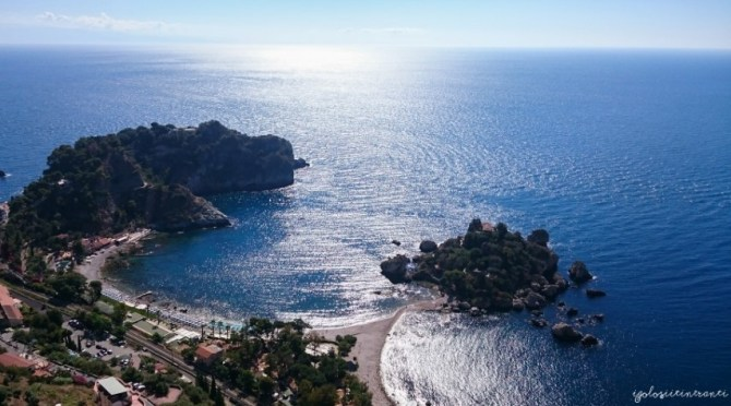 L'Isola Bella vista dall'alto, Taormina