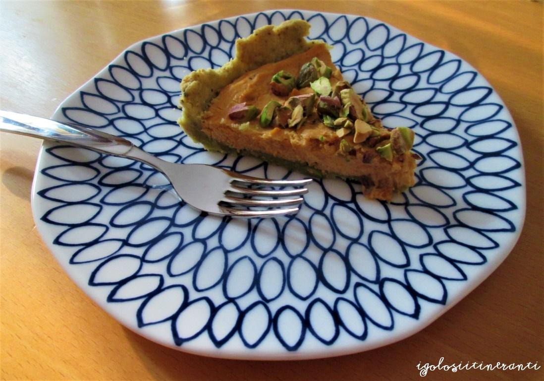 Crostata salata di pistacchio e zucca
