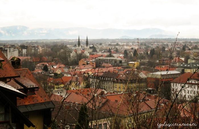 Vista di Lubiana dal castello