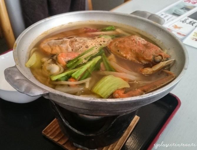 Zuppa di granchio e crostacei, Giappone