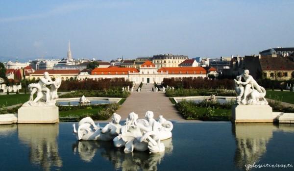 Vista dei giardini e del Belvedere inferiore (Vienna)