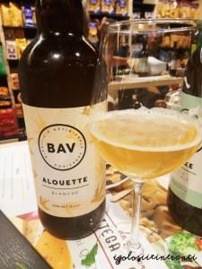 Birra bianca Alouette birrificio BAV Maerne