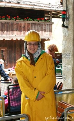 Ingresso Miniere di Predoi, prima di salire sul trenino sotterraneo