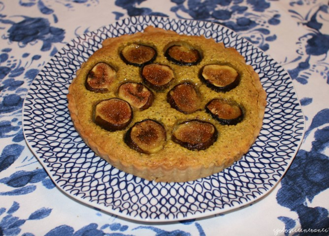 Crostata ai fichi e crema frangipane al pistacchio