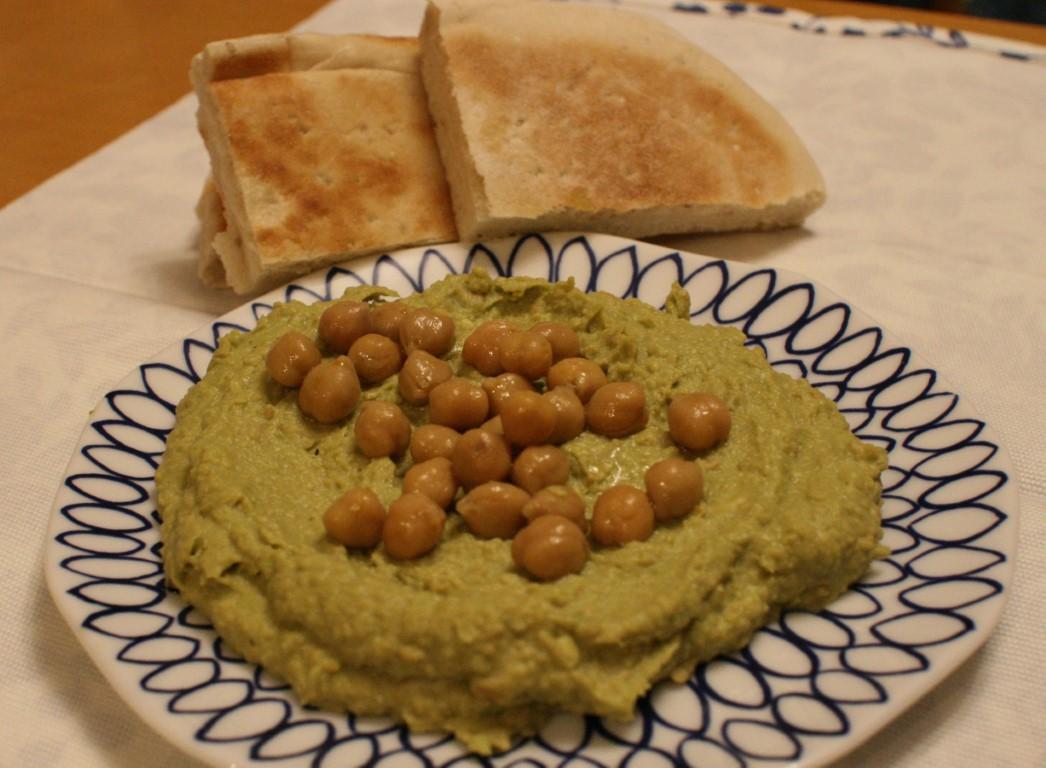 Hummus all'avocado
