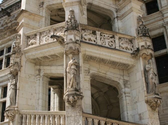 Scalinata ottagonale, castello di Blois