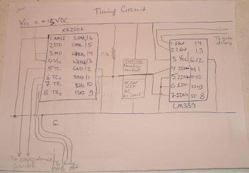 small resolution of schematic of the timing circuit ac dc welder schematics inverter diagram