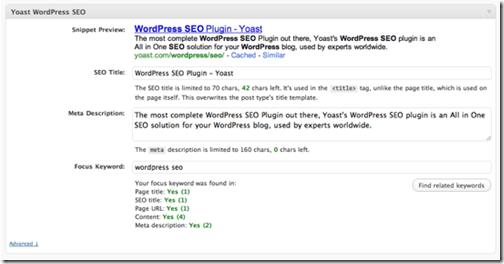 Плагин WordPress SEO с просмотром сниппета