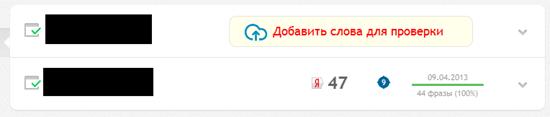 позиции сайта в сервисе sitexpert.org