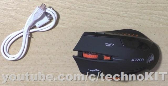 Беспроводная мышь AZZOR и USB зарядной кабель
