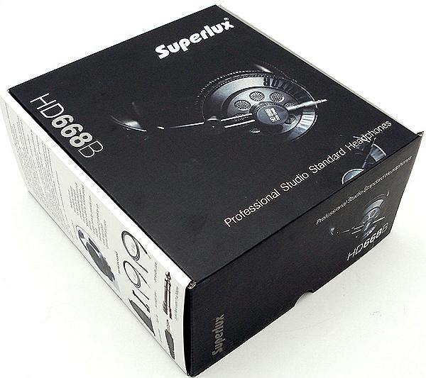 Картнонная коробка с наушниками Superlux HD668B